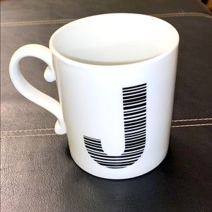 "West Elm Monogram ""J"" mug for right or left hand"
